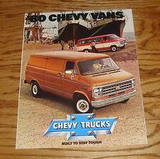 Original 1980 Chevrolet Truck Chevy Vans Sales Brochure 80 Sportvan Nomad