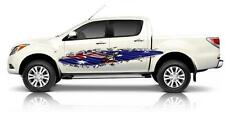 2 x Rip Metal with Australian Flag and Kanga Decals Sticker Boat or Caravan, Car
