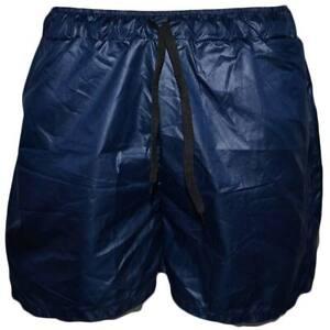 Costume mare uomo fantasia box modello pantaloncino blu tessuto semilucido opaci