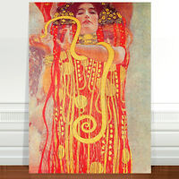 "Gustav Klimt Hygeia ~ FINE ART CANVAS PRINT 36x24"""