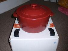 "Longaberger Flameware, 4Qt. ""Lidded Dutch Oven"" Paprika. See Shipping Note"