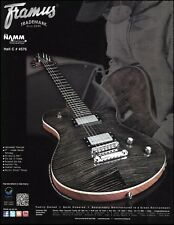 FRAMUS PANTHERA Supreme Nirvana Black High Polish Gitarre AD 8 x 11 Werbung