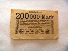 200000 mark Germany 1923 banknote free shipping