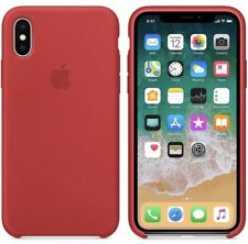 Apple iPhone X Red Silicon Case Ultra Slim  Great Handling Original Cover