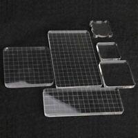 Acrylic Clear Stamp Block Scrapbook Stamp Pad DIY Tool Block Transparent