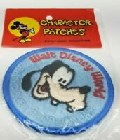 Walt Disney World Productions Goofy Dog Character Patch Vintage Parks 70s NOS