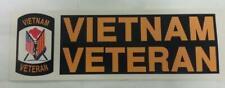 Vietnam Veteran Black And Orange Bumper Sticker