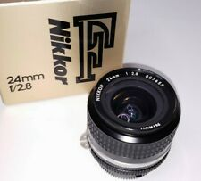 NIKON F NIKKOR 24mm F/2.8 Ai-s Wide Angle MF Lens in Box MINT