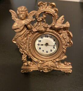 Antique Gold Gilt Figural Clock