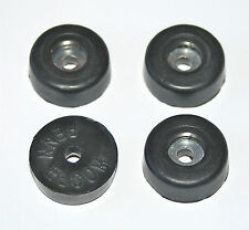 4 PIECES RUBBER FEET 26mm DIAMETER AND 10mm HIGH WITH METAL WASHERS - PENN ELCOM
