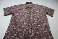 Cooke Street Honolulu Reverse Print Ctn CAMP SHIRT Large L