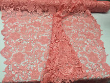 Zoewedding design guipure lace mesh lace fabric bridal wedding Coral.