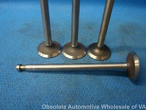1933 - 1965 Willys L134 134L EXHAUST Valve Set 4 Jeep MB Flathead 637183 USA
