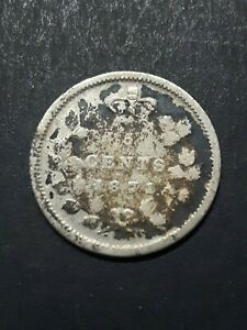 1871 Canada  silver 5 cents
