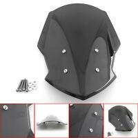 Windshield Windscreen Wind Shield Protector For 18-19 Yamaha-FZ 07 MT 07-Black A