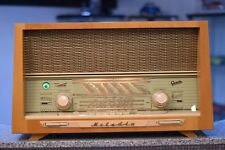 Graetz Melodia M 518 Schallkompressor German Tube Radio sonic compression tech.