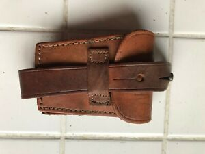Swedish Mauser Rifle 10 round leather ammo pouch