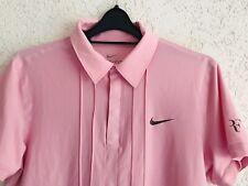 Nike Roger Federer M Polo Challenge Shirt Nadal Tennis Rare Sport