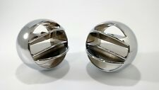 Pair Chrome Round A/C Vent Balls For 1967-72 Chevy / GMC Pickup Truck