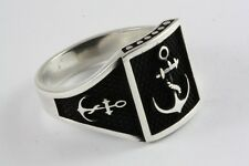 Capitán anclajes de marine anillo señores anillo sello anillo plata anillo 925 plata/477