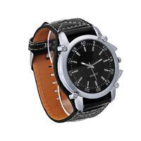 Luxury Mens Watches Movement Unisex Faux Leather Quartz Analog Wrist Watches