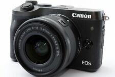 Canon EOS M6 24.2MP 15-45mm Lens Set Black [Exc w/8GB SD Card,Box [644]