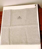 "AQUATALIA Light Gray Drawstring Dust Bag for Handbags / Shoes 14.5"" x 15.5"" NEW"