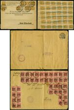 Germany 1923 covers/44 & 40 stamps/2.2 & 10 million m.