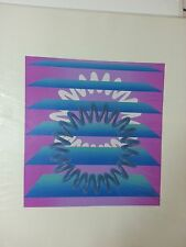 "Aijiro Wakita ""Spiral C"" Abstract Signed Numbered 9/50 Original Color Serigraph"