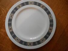 """Wedgwood Black Asia bone china 10 3/4"""" dinner plate green mark R4288"""