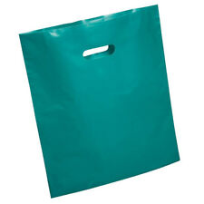 """Solid Colour Die-Cut Bags, 20"""" x 23"""", Turquoise, 500 pcsk"""