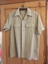 Carhartt Rugged Outdoor Wear Beige Cotton Mix Short Sleeved Shirt Size M