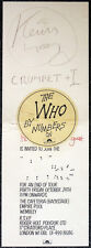 THE WHO REPRO 1975 THE WHO BY NUMBERS END OF TOUR PARTY SIGNED INVITE