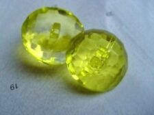 B226cl-15mm 10 BABY CRYSTAL DIAMOND GLASS EFFECT CLEAR PLASTIC ITALIAN BUTTONS