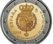 2 Euros España 2018 cc SC UNC 50 Aniversario Felipe VI 2 Euro Spain