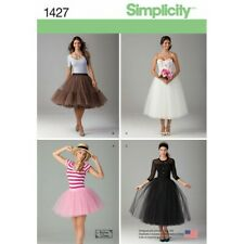 Simplicity Sewing Pattern Misses' Tulle Skirt in Three Length 1427