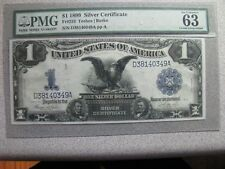 4 -1899 Large-Size $1 Silver Certificates Consecative