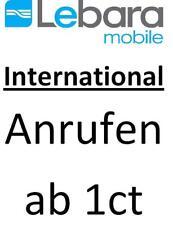 Lebara Mobile Prepaid Sim-Karte ab 1 cent ins Ausland / Flats / Data AKTIVIERT