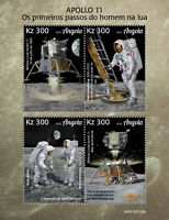Angola Space Stamps 2019 MNH Apollo 11 Moon Landing 50th Anniv 4v M/S