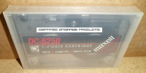 NEW MAXELL DC-6250 250MB SLR QIC-150 QIC-120 Data Tape Cartridge 46157 DC6250
