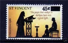 St Vincent 1983 45c surcharge overprint SG 718 MNH