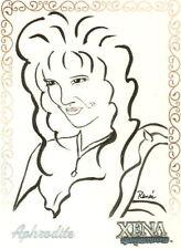 Xena R3 Aphrodite Artifex insert card art by Renee O'Connor