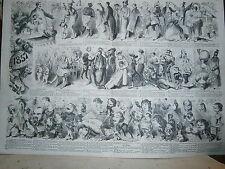Gravure 19° Revue comique de l'année 1857 par Marcelin