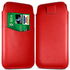 PREMIUM CARD SLOT PU LEATHER PULL FLIP TAB CASE COVER POUCH FOR BLACKBERRY SETS