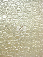 BUBBLE FAUX LEATHER/VINYL FABRIC-CREAM- ONLY $17.99/YARD-BTY ALLIGATOR CROC