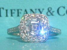 TIFFANY & CO. LEGACY PLAT 1.46CTW DIAMOND ENGAGEMENT RING CERTIFICATE SIZE 4