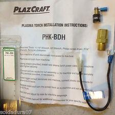 PLAZCRAFT Plasma Torcha Instalacion  - PHK-BDH HOOK-UP KIT Hyper - Hecho en USA
