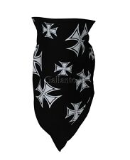 Textile Iron Cross Neck Warmer  Motorcycle Biker