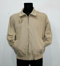 LE FROG 90s Vintage Brown Casual Cotton Varsity Jacket Full Zip Mens Size Medium