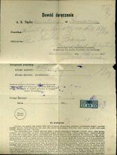 427176) Ukraine / Galizien 1917, Gerichts-Zustellmarke 10 h auf Blg